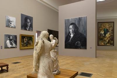 Yan Pei-Ming – Courbet, corps-à-corps