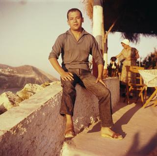 Biografia - Biography, Piero Manzoni a Borgio Verezzi, 1956 c.