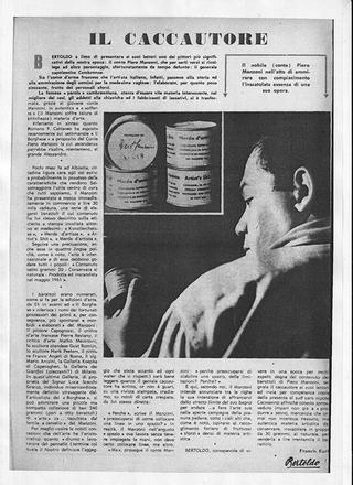 """Il Caccautore, """"Bertoldo"""", Milano, 30 novembre 1961, p. 11"""