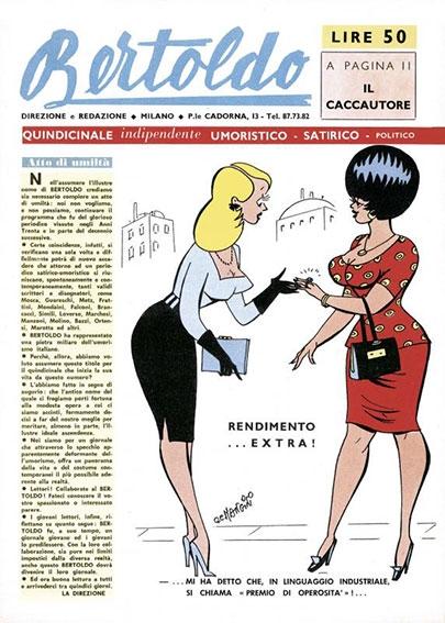 """Il Caccautore, in """"Bertoldo"""", Milano, 30 novembre 1961, p. 11"""