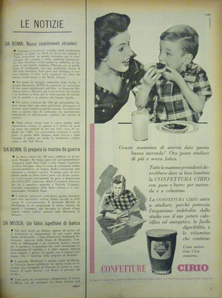"""Iconografie del cibo: Piero Manzoni e la pubblicità del suo tempo, Pubblicità Cirio, """"Epoca"""", 9 aprile 1961"""