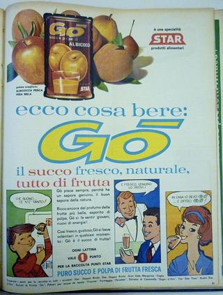 """Iconografie del cibo: Piero Manzoni e la pubblicità del suo tempo, Pubblicità Gò, """"Epoca"""", 19 marzo 1961"""