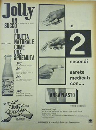 """Iconografie del cibo: Piero Manzoni e la pubblicità del suo tempo, Pubblicità Jolly, """"Epoca"""", 2 aprile 1961"""