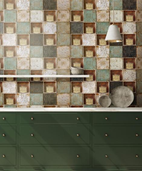 """8PER / Omaggio a Merda d'artista di Piero Manzoni, Collezione 8per studio parati taplab design""""Omaggio a Merda d'artista di Piero Manzoni"""", © TapLab 2021"""
