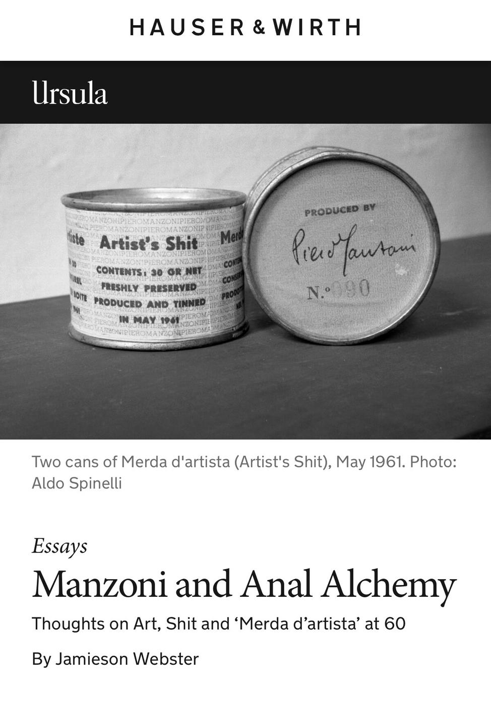 Manzoni and Anal Alchemy