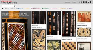 De Pietri - Artphilein Foundation, Progetti speciali e mostre virtuali  La versatilità del sito www.artphilein.org ben si presta ad ospitare progetti articolari con sezioni, schede e moduli di approfondimento: come la mostra virtuale dedicata all'arte australiana indigena