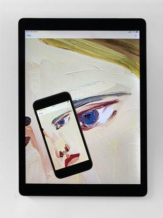 """Monica de Cardenas, Slideshow  Le opere possono essere visualizzate anche nella modalità """"slideshow"""", per mostrare una gallery scorrevole dei lavori accompagnati dalle relative didascalie, con l'opzione di mostrare o nascondere le informazioni commerciali."""