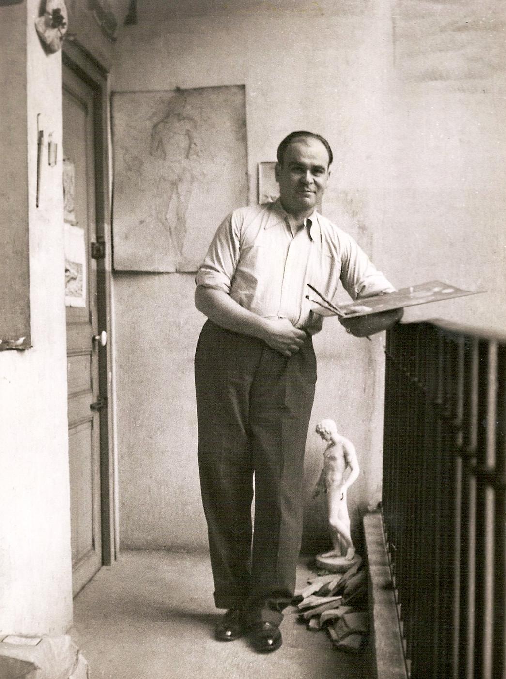 Filippo de Pisis, Filippo de Pisis Nello studio di Parigi nel 1932