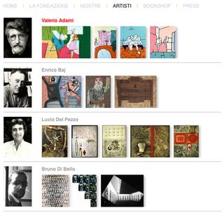 Marconi, Gli artisti  Il sito presenta tutti gli artisti che hanno preso parte alla vita dello Studio e della Fondazione Marconi, accompagnati da una selezione di opere.