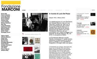 Marconi, Le mostre  Il sito racconta le esposizioni della Fondazione, presentate attraverso il comunicato stampa e un ampio corredo fotografico.