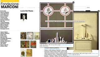 Marconi, Immagini in movimento  Una peculiarità del sito è la possibilità di ingrandire più immagini contemporaneamente: le foto selezionate si aprono in finestre pop-up che possono essere spostate liberamente nella finestra di navigazione.