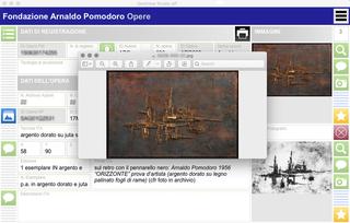 Arnaldo Pomodoro, Un gestionale per ogni esigenza  L'applicazione database serve anche alla Fondazione per gestire la sua collezione di opere d'arte, costantemente in crescita, che include lavori e progetti degli artisti che collaborano con la Fondazione stessa.