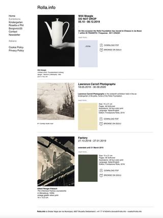 Rolla.info, Il sito web  Il sito www.rolla.info presenta la ricca attività espositiva della Fondazione.