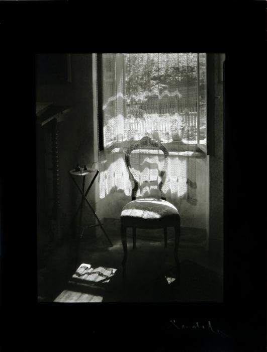 Rolla.info,   Josef Sudek Židle u okna (Chair by the window), 1972, gelatin silver print 23 × 17,5 cm