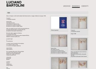 """Luciano Bartolini, Visione d'insieme e dettagli  Il sito www.archiviolucianobartolini.it è sviluppato con il modello della timeline: ogni evento di questa """"linea del tempo"""" ha poi una pagina di dettaglio dedicata con materiali di approfondimento."""