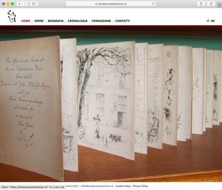 Ursula & Gunter Böhmer, Il sito web  Il sito www.fondazioneboehmer.ch è stato ideato per divulgare al pubblico i materiali di studio che la Fondazione sta acquisendo e catalogando: informazioni sulla vita dell'artista, il catalogo dei disegni e degli album, gli apparati analitici di esposizioni e citazioni bibliografiche.