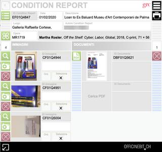 Raffaella Cortese, La gestione dei condition report  È possibile archiviare, compilare e stampare i condition report direttamente dal proprio gestionale.