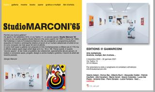 Studio Marconi '65, Mostre e opere  La prima parte del sito dello Studio Marconi '65 presenta la veste istituzionale della galleria con le consuete sezioni dedicate alle mostre in corso.