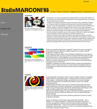 Studio Marconi '65, Per saperne di più...  Una sezione di approfondimento permette infine di leggere una breve descrizione delle principali tecniche di incisione e di stampa.