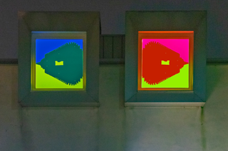 Devincenzi 1983, L'opera Soglie di luce del tempo di Francesco Candeloro installata, Photo © Alberto Laurenzi