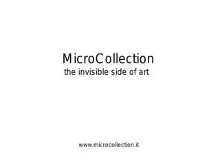 Portfolio Microcollection