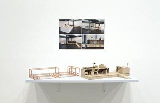 Gallery Crossing, Modellino dell'installazione in legno e cartone