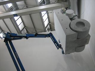 Monocromo bianco, Allestimento dell'installazione alla Fondazione Arnaldo Pomodoro, Milano, Photo © Alessandro Zanbianchi