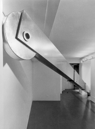 Telescopico, Installazione presso la Galleria Transepoca, Milano 1991