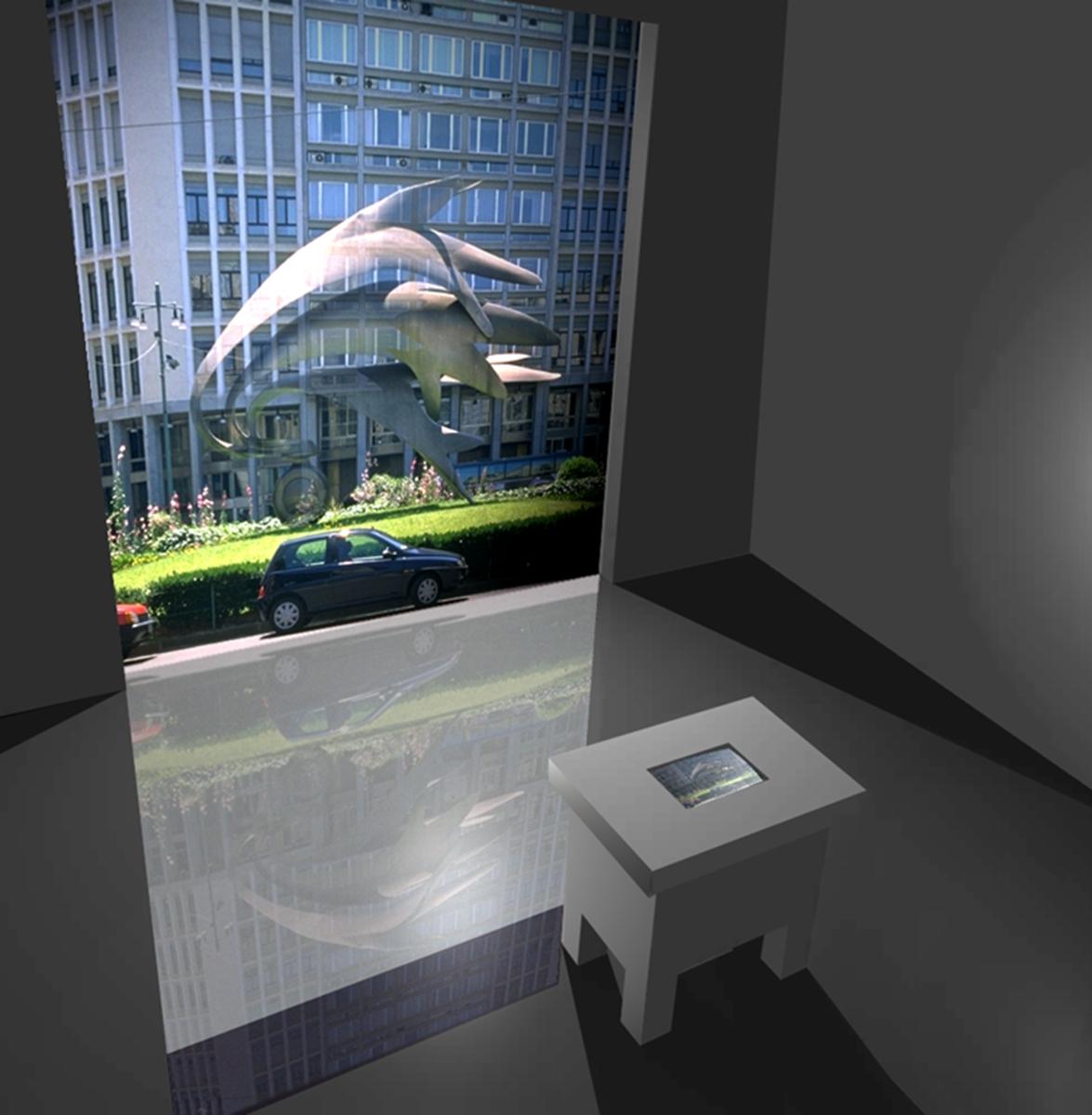 La smaterializzazione dell'Arte, Modellazione tridimensionale dello spazio espositivo
