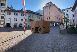 La 74, Proposta installativa inMarktplatz. (rendering)