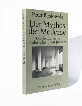 A sostegno dell'Arte I, Koslowski, Peter: Der Mythos der Moderne: die dichterische Philosophie Ernst Jüngers / Peter Koslowski. - München: Fink, 1991 ISBN 3-7705-2720-8 Umberto Cavenago,A sostegno dell'Arte, 1990 (immagine di copertina)
