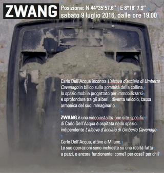 ZWANG: una videoinstallazione di Carlo Dell'Acqua ospitata all'interno della scultura