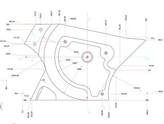 Disegno tecnico corpo in marmo