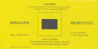 Immagini proiettate, FuAmedeo Martegani a disegnare l'invito per l'inaugurazione di Viafarini. Amedeo era un promettente bravo artista, ma come avrebbe dimostrato negli anni a venire, era anche un imprenditore culturale