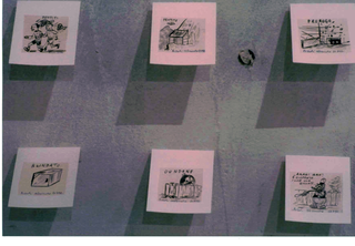 Alessandro Pessoli, Maelstorm, China su carta su cartoncino, particolare