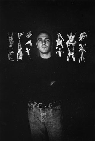 Paolo Canevari, Disegno, Paolo Canevari, foto di Armin Linke che ha documentato l'artista mentre lavorava nello spazio