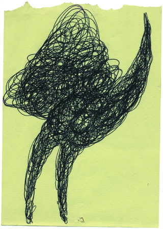 Paolo Canevari, Disegno, Penna a sfera su carta riciclata, uno dei disegni originali per l'edizione