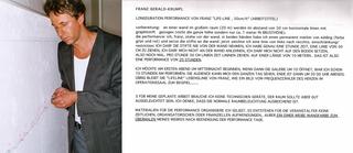 "Prêt-à-perform. The Class of Marina Abramovic, Franz Gerald-Krumpl, ""Life lines""."