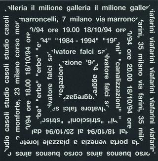 Salvatore Falci, Canalizzazioni, La brochure progettata dal grafico Massimo Costa