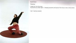 "Prêt-à-perform. The Class of Marina Abramovic, Sarah Braun, ""Muppet""."