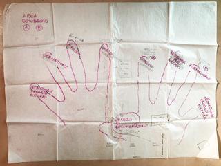 OfficinaBit, Progetto/mappa per la homepage del sito di Careof e Viafarini (2000) progettata assieme agli artisti coinvolti nel workshop Officina.bit