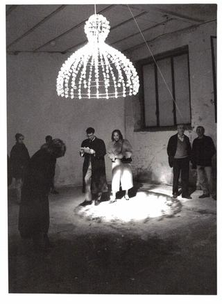 Mary Brogger, Sciogliere, Durante l'inaugurazione. Foto di Mario Gorni