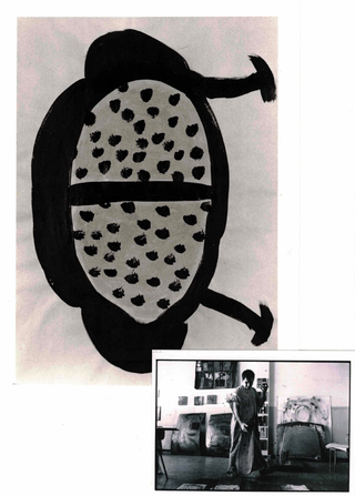 WURMKOS - Wurmkos Design, Caterina Caserta Progetto per tavolo, 1990 gessetti ed acrilico su carta da pacco 73 x 50 cm