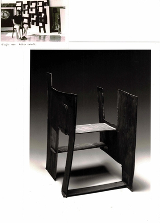 WURMKOS - Wurmkos Design, Antonio Valente, Sedia, 1992, tecnica mista su cartoncino telato.