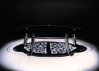 WURMKOS - Wurmkos Design, Caterina Caserta, tavolo in vetro serigrafato