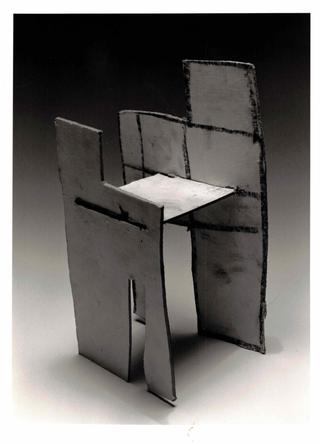 WURMKOS - Wurmkos Design, Antonio Valente Sedia, 1992 tecnica mista su cartoncino telato