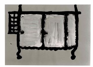 WURMKOS - Wurmkos Design, Caterina Caserta Armadio, 1992 acrilico e pittura fosforescente su carta