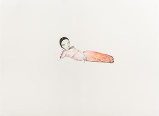 Margherita Manzelli, Il vascello fantasma, Ravenna, 2014 graphite, watercolour, liquid watercolour, mercurochrome, glitter and glue on paper 56 × 77.2 cm