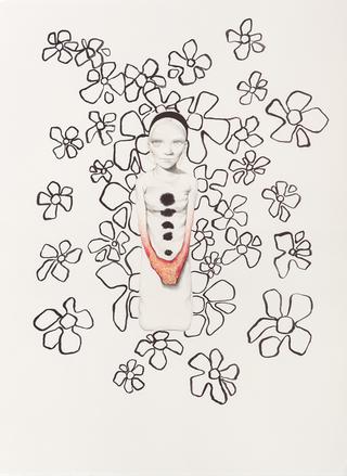 Margherita Manzelli, Il vascello fantasma, Untitled, 2014 graphite and pastel on paper 77.2 × 56 cm