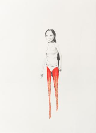 Margherita Manzelli, Il vascello fantasma, Untitled, 2014 graphite, glitter and pastel on paper 77.2 × 56 cm